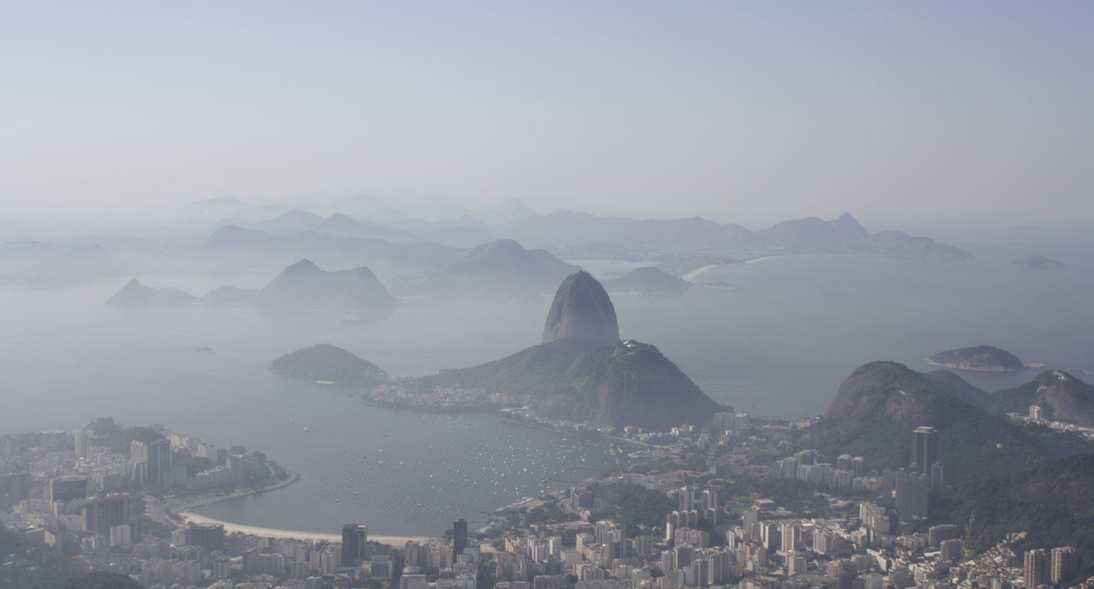 Bird's-eye view of Guanabara Bay from Corcovado mountainRio de Janeiro, Brazil