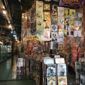A vintage poster shop in San Telmo