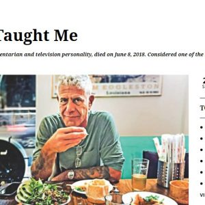 A screen shot of my piece on Bourdain published in The Daily Star