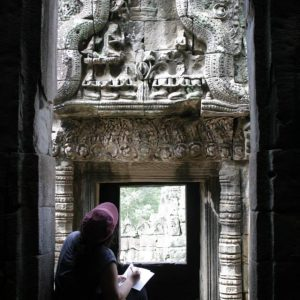 Capturing Bayon in ink