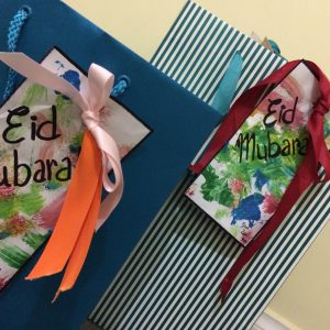 Eid gifts with handmade cards