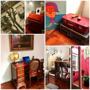 Our kitschy apartment in Palermo - perfectly set up to inspire wanderlust.