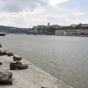 A poignant Holocaust memorial: Shoes on the banks of the Duna.