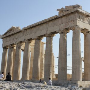 The gleaming facades of the Parthenon.