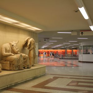 Metro stations in Athens double as mini museums.