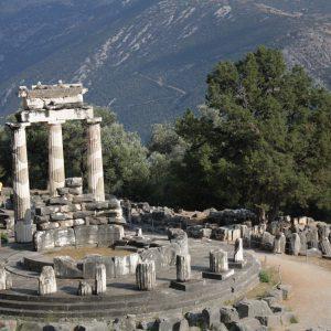 The Sanctuary of Athena in Delphi.