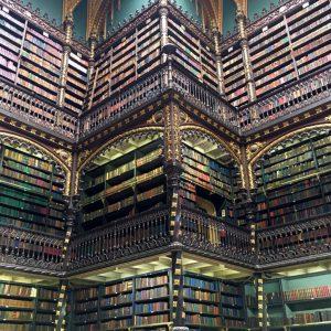 Inside the Royal Portugese Reading Room, Rio de Janeiro, Brazil
