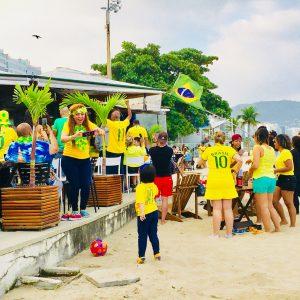 Jubilation on Copacabana Beach Rio Brazil World Cup 2018