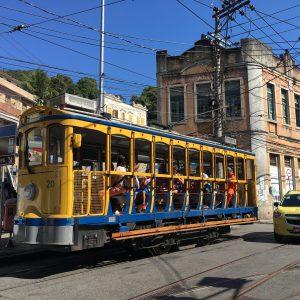Santa Teresa's iconic trams, Rio de Janeiro, Brazil