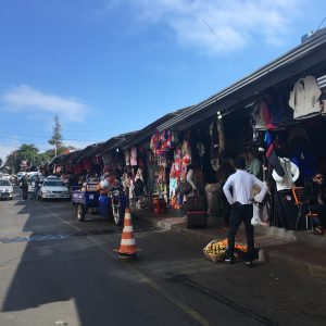 Streets lined with shops selling everything from clothes to electronics