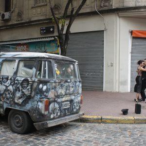 Streetside tango in San Telmo, Buenos Aires
