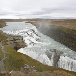 The Gulfoss waterfalls Iceland