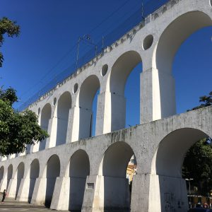 The Lapa Arches - a striking 18th century aqueduct, Rio de Janeiro, Brazil