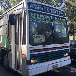 The local bus that runs between Foz do Iguacu and Ciudad del Este