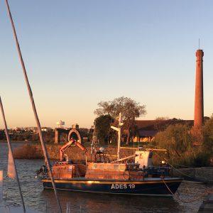 The sun setting over Puerto Viejo, Colonia_s yacht harbour, Colonia del Sacramento, Uruguay