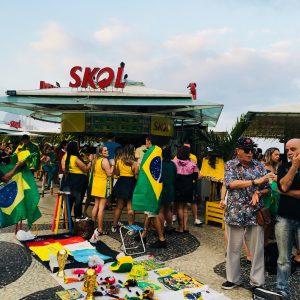Waiting for kick-off, Copacabana Rio Brazil World Cup 2018