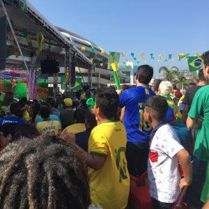 Watching Brazil play at the Maracana Rio Brazil World Cup 2018